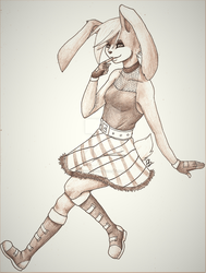 Commish: Razor's Bun v2 by FoxyPheonix