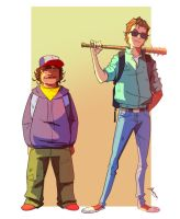 Steve and Dustin by TheBabman