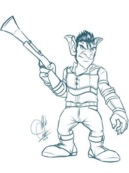 Drawlloween Challenge Day 3: Goblin by y2hecate