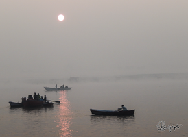 The Sunrise on Ganga -Varanashi02 by DebasishPhotos