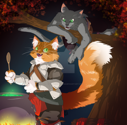 Commission: The Tabaxi Brothers by AkitheFrivolicious