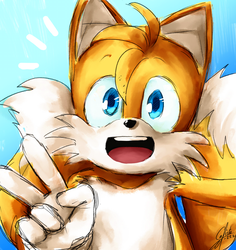 Tails the adorable fox by Calista-222