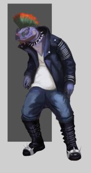 Punk Turtle by artyvicky