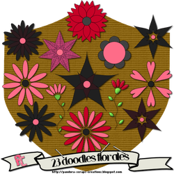 Doodles flowery by Pandora-Creations