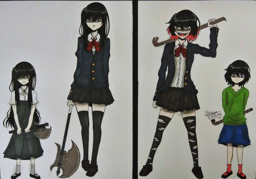 Yandere comparison by AnimeGeorge2001