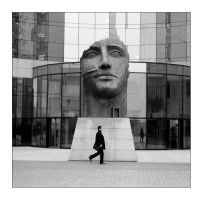 man and the head by Suzie006