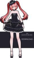 Tda Black Eye Kid Miku + Download by XxXSickHeartKunXxX