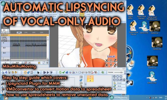 MMM / MMD Automatic Lipsyncing for vocal tracks by AddestorionVayanis
