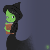 Little Elphaba by muffinpop
