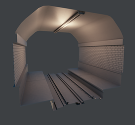 Metro Tunnel Tile Clay-render by Krist-Silvershade