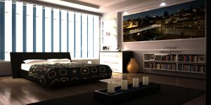 Contemporary Bedroom by iceSkar