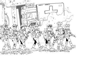 Infantry on the move by TonyBourne