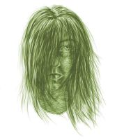 human face green by emi-chan