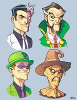 Bat Villains in Color 3 by D-MAC