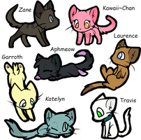 Minecraft MyStreet characters as cats by Butterfly1200