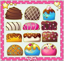 Choco Sweet Sticker Set by marywinkler
