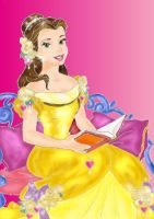 Belle likes to read by virginie25