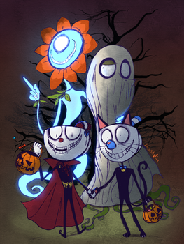 Cuphead - Trickin' and Treatin' by Atlas-White