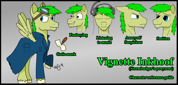 Character Reference - Vignette Inkhoof by Stormbadger