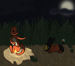 Charmander and Tepig by RascalWabbit
