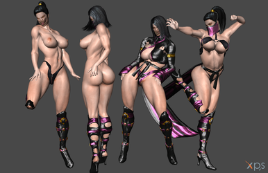 *Commission* Realistic Mileena by Marcelievsky