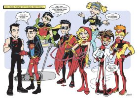 Young Justice Meet DCnU Titans by BillWalko