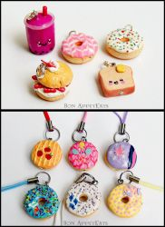 Commission - Misc. Charms by PepperTreeArt