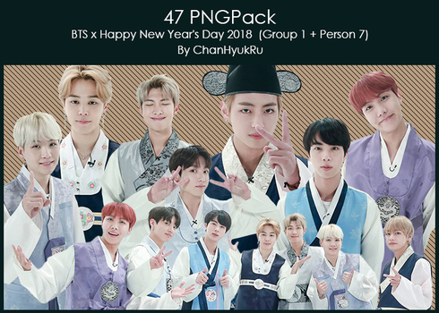 47 / BTS x Happy New Year's Day 2018 PNGPack by ChanHyukRu