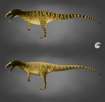 Dinosaur isle - Neovenator colour scheme by AlternatePrehistory