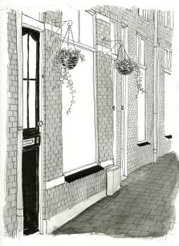 Inktober 2017 Day 19: Doors and potted plants by small-light
