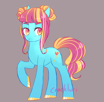Valentines Pony OFFER TO ADOPT by Crackluri