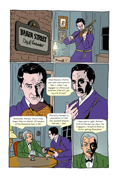 Sherlock Holmes Page 1 by Flying-Tiger-Comics
