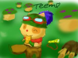 Teemo lunchtime by xiaolee92