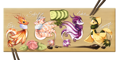 [Set Price] Sushi Menu (Closed) by cepphiro