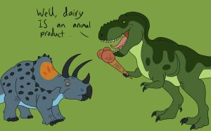 Dairy is an Animal Product by TyrannoNinja