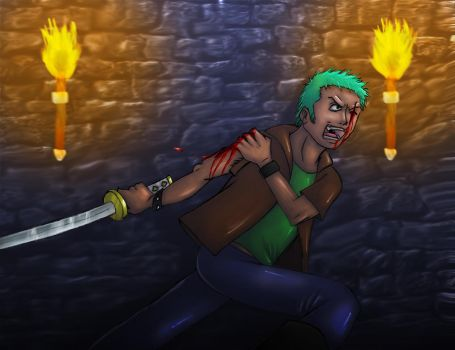In a Dungeon-Zoro by Blader3000