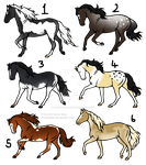 16 point horse adopts [0/6] -CLOSED- by TheAdoptArtist