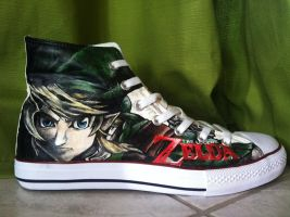 Legend of Zelda Twilight Princess Link Shoes by LaraWegenaerArts