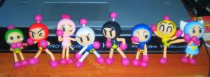 Super Bomberman R Cold pordelain figurines by SailorBomber