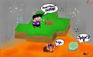 SPLEEF'D Slyfoxhound and ImmortalHD by totallyepicmudkipz