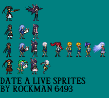Date a live sprites by RockMan6493