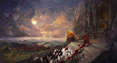 Rise of The Lion, Casterly Rock and Lannisport by fkcogus333