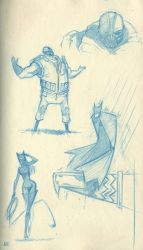 DKR sketches by jaeTanaka