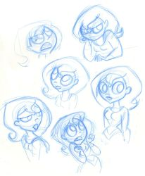 SBFF Supergirl face studies by fyre-flye