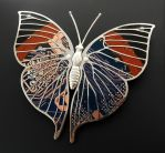 Indian Leafwing Moth Brooch by thebluekraken