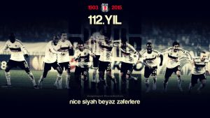 Besiktas JK 112 Year Wallpaper by eaglelegend