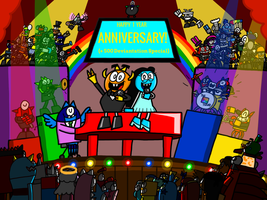 Happy 1 Year Deviant Aniversary! (500d Special) by AngryBirdsandMixels1