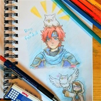 Brave Lion Roy + Feh Doll (Fire Emblem Heroes) by Aaronchu29