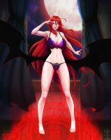 Rias Gremory - Crimson Princess - Lingerie Version by ghostfire