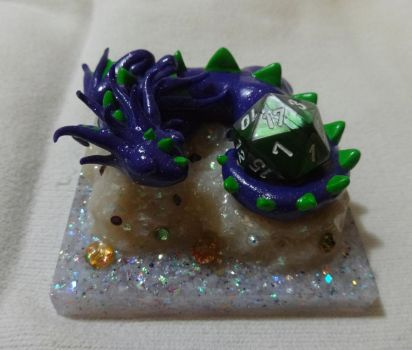 Slumbering Beast: The Purple D20 Dragon by slarmstrong